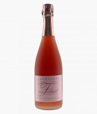 Wine Champagne Rosé De Saignée Tentation Rosé - NATHALIE FALMET