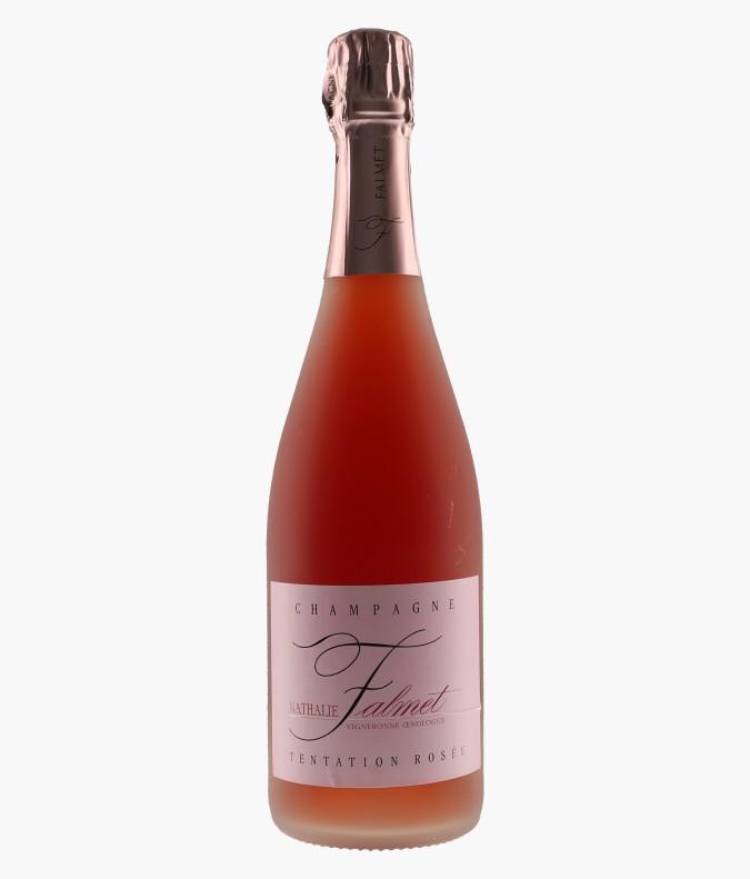 Champagne Rosé De Saignée Tentation Rosé - NATHALIE FALMET